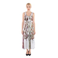 Magical autumn trees Sleeveless Maxi Dress