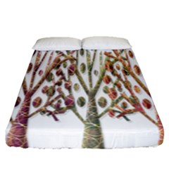 Magical Autumn Trees Fitted Sheet (queen Size)