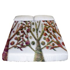 Magical autumn trees Fitted Sheet (King Size)