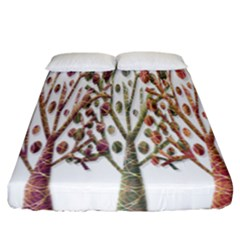 Magical autumn trees Fitted Sheet (California King Size)