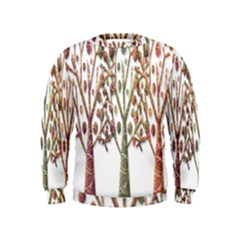 Magical autumn trees Kids  Sweatshirt