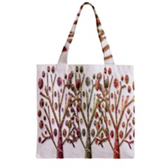 Magical autumn trees Zipper Grocery Tote Bag