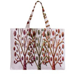 Magical autumn trees Zipper Mini Tote Bag