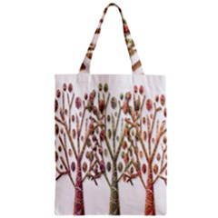 Magical autumn trees Zipper Classic Tote Bag