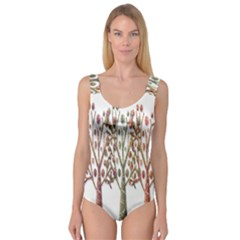 Magical autumn trees Princess Tank Leotard