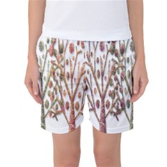 Magical autumn trees Women s Basketball Shorts
