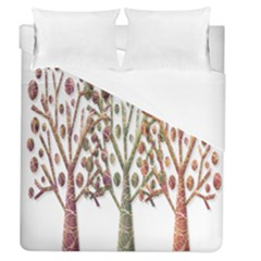 Magical autumn trees Duvet Cover (Queen Size)