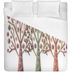 Magical autumn trees Duvet Cover (King Size)