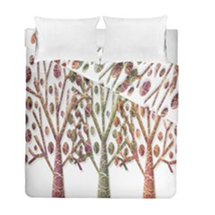 Magical autumn trees Duvet Cover Double Side (Full/ Double Size)