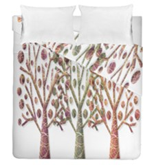 Magical autumn trees Duvet Cover Double Side (Queen Size)