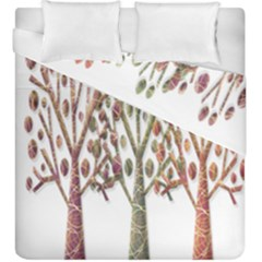 Magical autumn trees Duvet Cover Double Side (King Size)