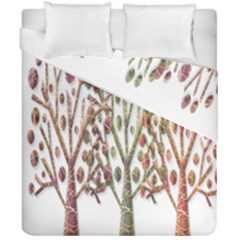 Magical autumn trees Duvet Cover Double Side (California King Size)