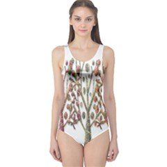 Magical autumn trees One Piece Swimsuit