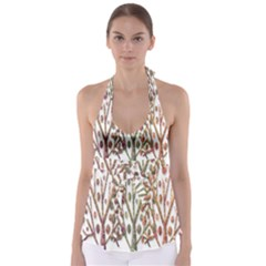 Magical autumn trees Babydoll Tankini Top