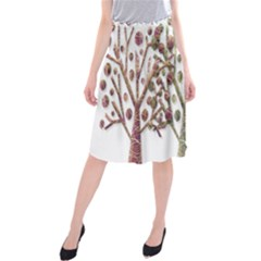 Magical autumn trees Midi Beach Skirt