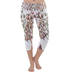 Magical autumn trees Capri Yoga Leggings