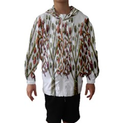 Magical autumn trees Hooded Wind Breaker (Kids)