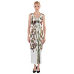 Magical autumn trees Fitted Maxi Dress