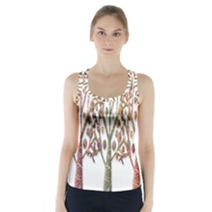 Magical autumn trees Racer Back Sports Top
