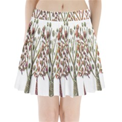 Magical autumn trees Pleated Mini Skirt