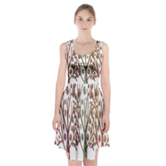 Magical autumn trees Racerback Midi Dress