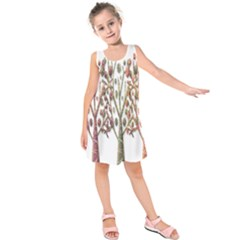 Magical autumn trees Kids  Sleeveless Dress