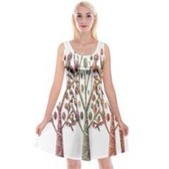 Magical autumn trees Reversible Velvet Sleeveless Dress