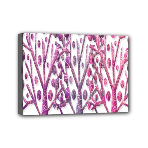 Magical pink trees Mini Canvas 7  x 5