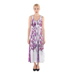 Magical pink trees Sleeveless Maxi Dress