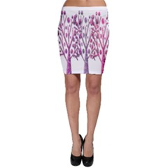 Magical pink trees Bodycon Skirt