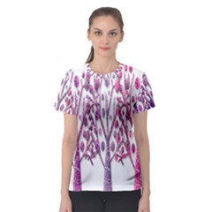 Magical pink trees Women s Sport Mesh Tee