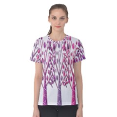 Magical pink trees Women s Cotton Tee