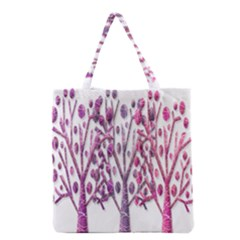 Magical pink trees Grocery Tote Bag