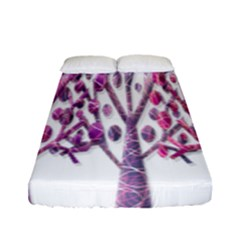 Magical pink trees Fitted Sheet (Full/ Double Size)