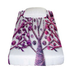Magical pink trees Fitted Sheet (Single Size)