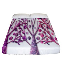 Magical pink trees Fitted Sheet (King Size)