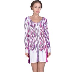 Magical pink trees Long Sleeve Nightdress