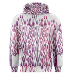 Magical pink trees Men s Zipper Hoodie