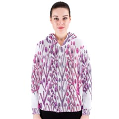 Magical pink trees Women s Zipper Hoodie