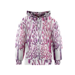Magical pink trees Kids  Zipper Hoodie