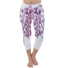 Magical pink trees Capri Winter Leggings