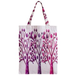 Magical pink trees Zipper Classic Tote Bag
