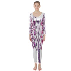 Magical pink trees Long Sleeve Catsuit