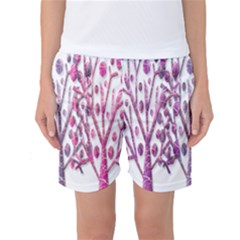 Magical pink trees Women s Basketball Shorts