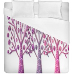 Magical pink trees Duvet Cover (King Size)