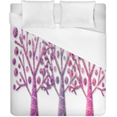 Magical pink trees Duvet Cover (California King Size)