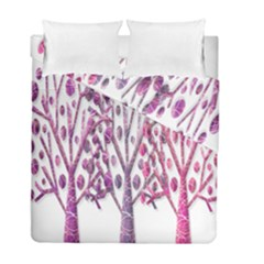 Magical pink trees Duvet Cover Double Side (Full/ Double Size)