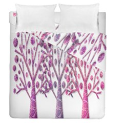 Magical pink trees Duvet Cover Double Side (Queen Size)