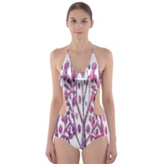 Magical pink trees Cut-Out One Piece Swimsuit