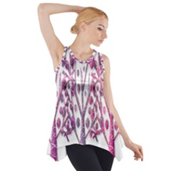 Magical pink trees Side Drop Tank Tunic